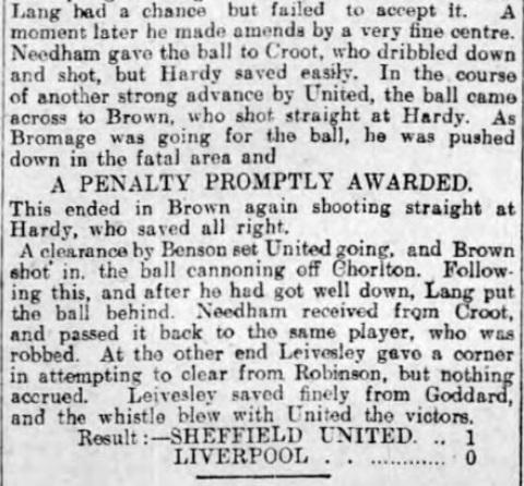 1906 Sheff Utd v LFC 6 Sheffield Evening Telegraph