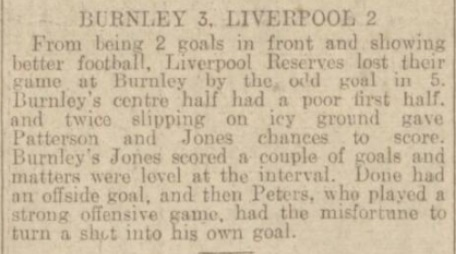 1938 Burnley Res v LFC Res daily post 1