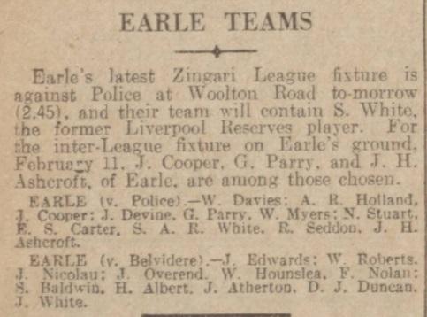 1939 Earle team
