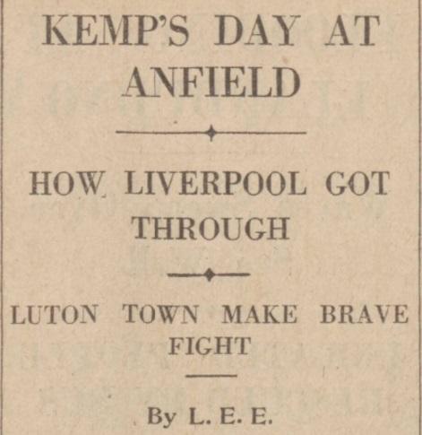 1939 LFC v Luton Town Daily Post 1