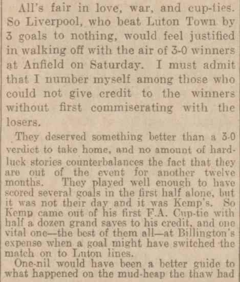 1939 LFC v Luton Town Daily Post 2