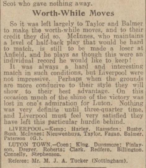 1939 LFC v Luton Town Daily Post 5