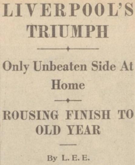 1939 LFC v PNE match report Daily Post 1