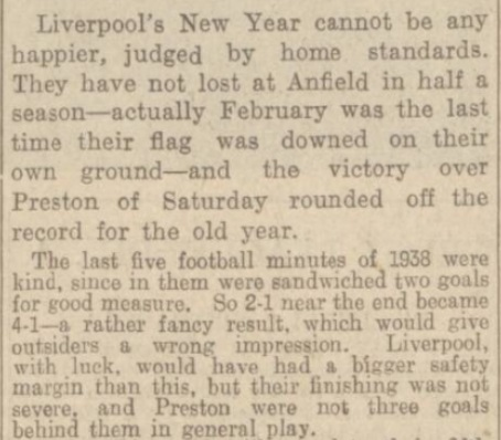 1939 LFC v PNE match report Daily Post 2