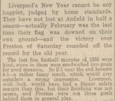 1939 LFC v PNE match report Daily Post 2