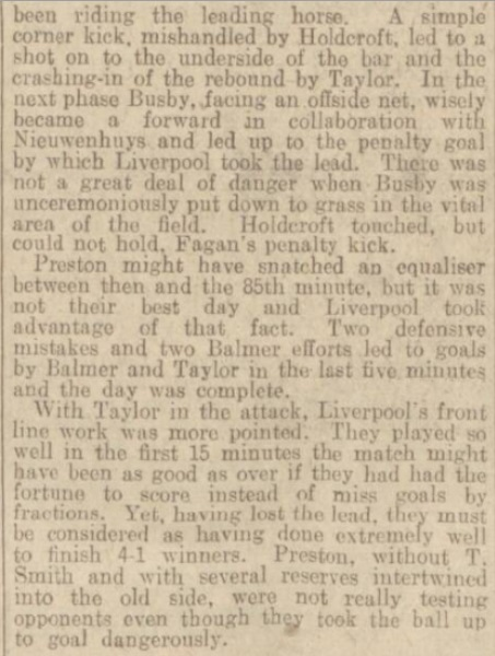 1939 LFC v PNE match report Daily Post 4
