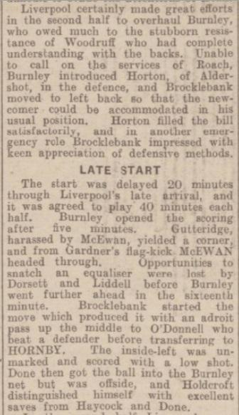 1942 Burnley v Liverpool match report 2