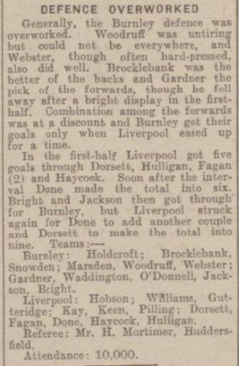 1942 Liverpool v Burnley match report 3