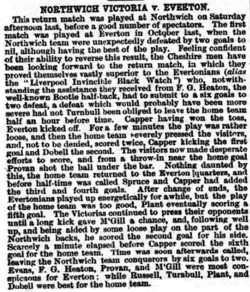 1881 Northwich Victoria v Everton
