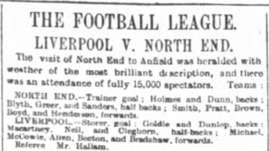 1897 LFC v PNE match report 1