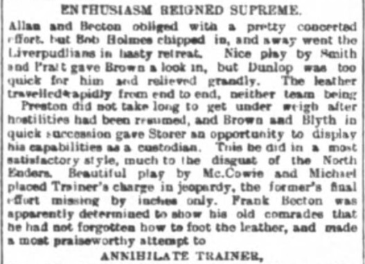 1897 LFC v PNE match report 4