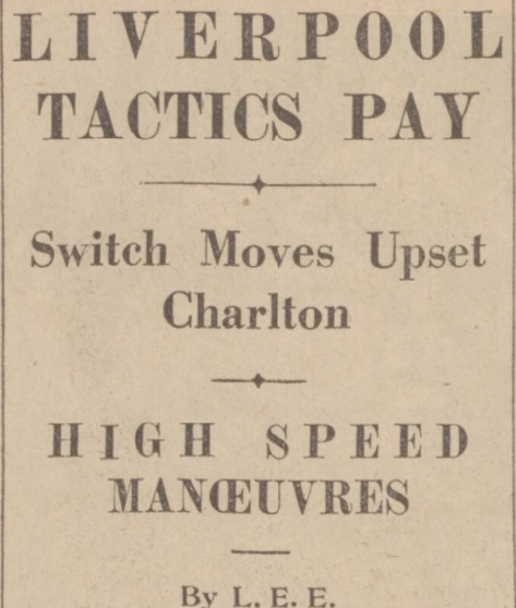 1939 Charlton v LFC Daily Post 1