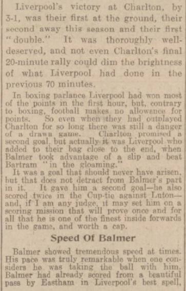 1939 Charlton v LFC Daily Post 2