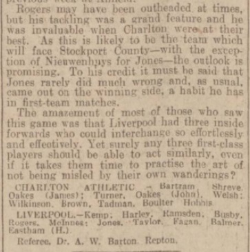 1939 Charlton v LFC Daily Post 4