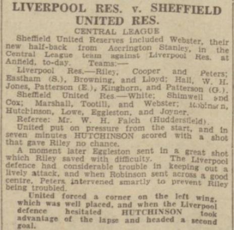 1939 LFC Reserves v Sheff Utd Res 1