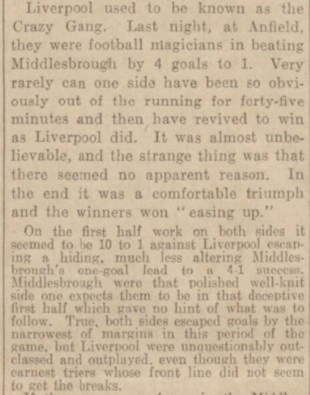 1939 LFC v Middlesbrough match report 3