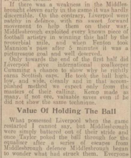 1939 LFC v Middlesbrough match report 4