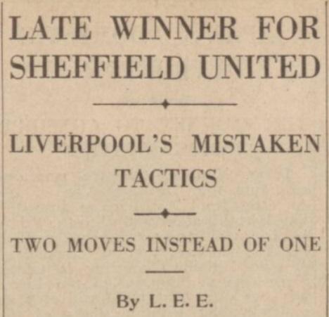 1939 SUFC v LFC match report 1