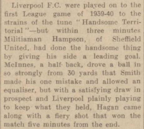 1939 SUFC v LFC match report 2
