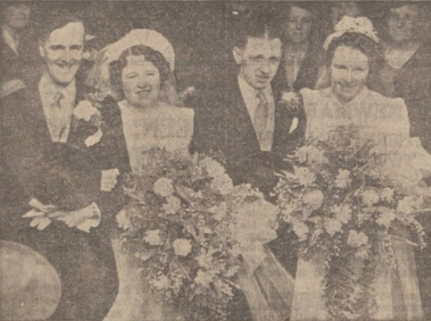 1939 wedding Parkinson sisters