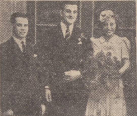 1942 Cyril Done wedding