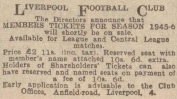 1945 tickets