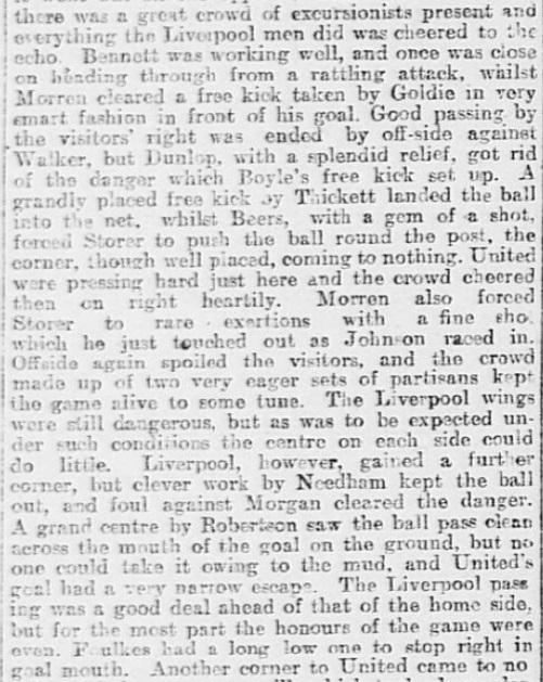 1899 SUFC v LFC Sheffield Daily Telegraph 2