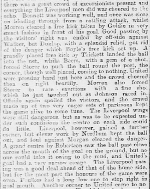 1899 SUFC v LFC Sheffield Daily Telegraph 2