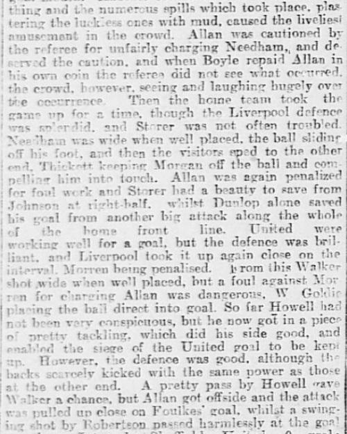 1899 SUFC v LFC Sheffield Daily Telegraph 3