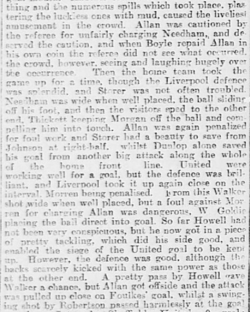 1899 SUFC v LFC Sheffield Daily Telegraph 3