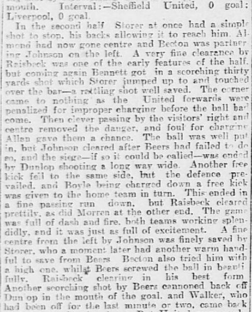 1899 SUFC v LFC Sheffield Daily Telegraph 4
