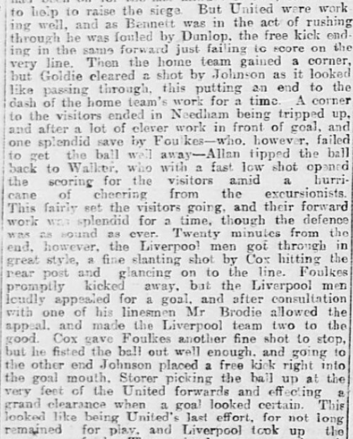 1899 SUFC v LFC Sheffield Daily Telegraph 5