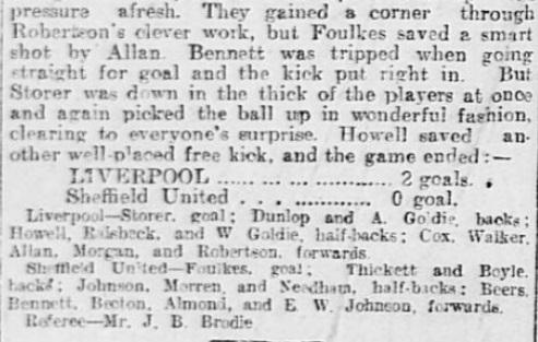 1899 SUFC v LFC Sheffield Daily Telegraph 6