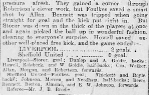1899 SUFC v LFC Sheffield Daily Telegraph 6