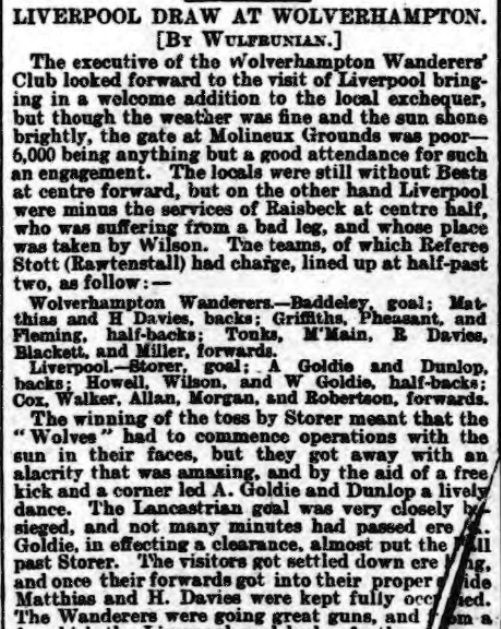 1899 Wolves v LFC Athletic News 1