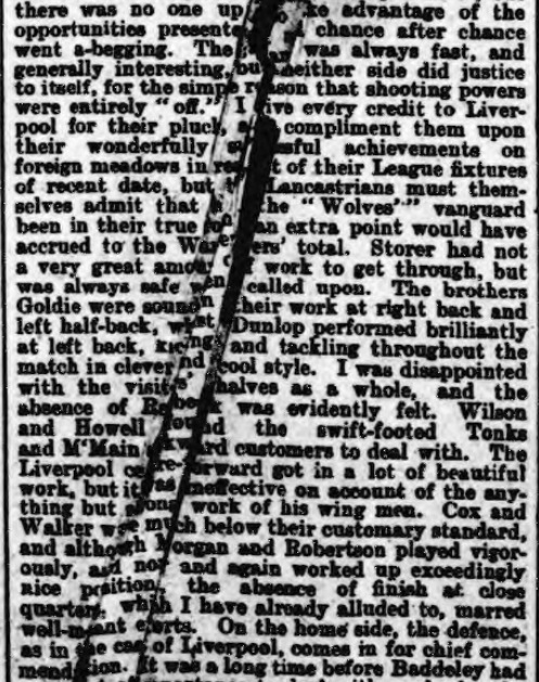 1899 Wolves v LFC Athletic News 3