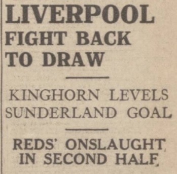 1939 LFC v Sunderland Evening Express 1