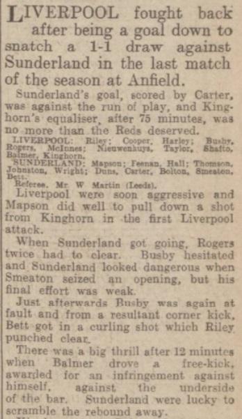 1939 LFC v Sunderland Evening Express 2