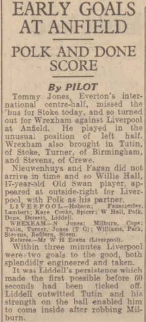 1941 LFC v Wrexham Express 1