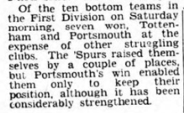 1953 Pompey v LFC Pompey evening news 3