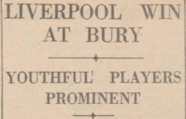 1941 Bury v LFC Daily Post 3 March 1