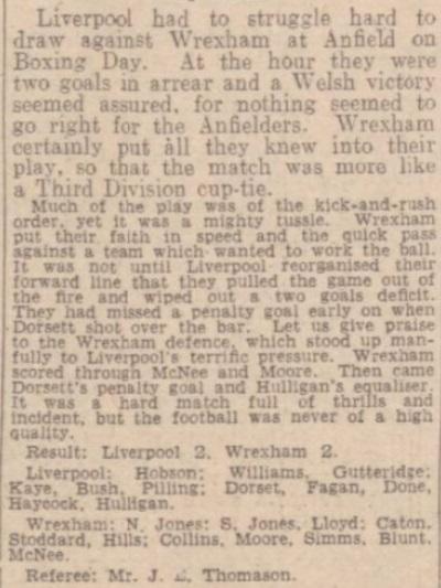 1942 LFC v Wrexham