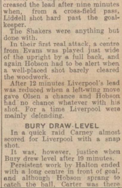 1942 Bury v LFC January 2