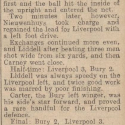 1942 Bury v LFC January 3