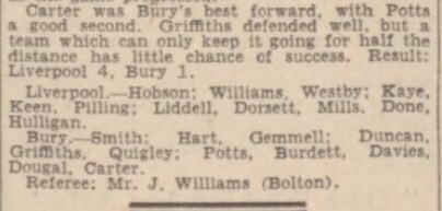 1942 Bury v Liverpool Daily Post September 3
