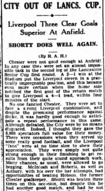 1942 LFC v Chester May Observer 1