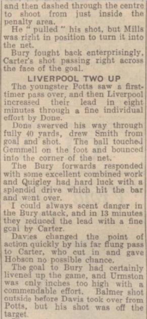 1942 Liverpool v Bury October Express 2