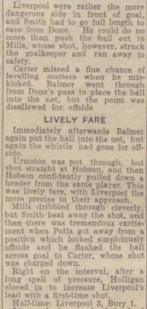 1942 Liverpool v Bury October Express 3