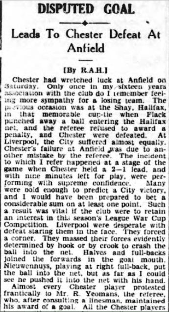 1944 LFC v Chester February 1944 Observer 1