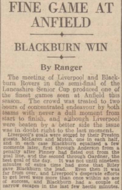 1942 LFC v BRFC Lancashire Cup 1